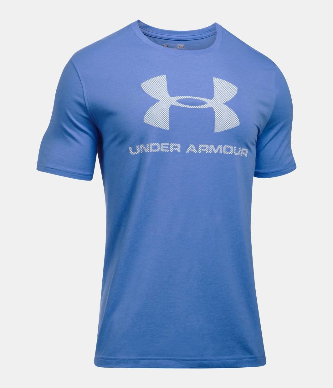 UA ChargedCotton pánske tričko krátky rukáv farba BLUE WHT 487f963d580